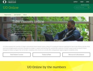de.uoregon.edu screenshot