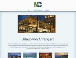 de.visitnc.com screenshot