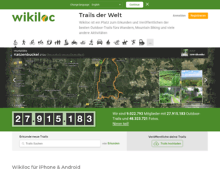 de.wikiloc.com screenshot