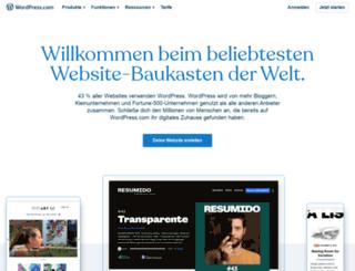 de.wordpress.com screenshot