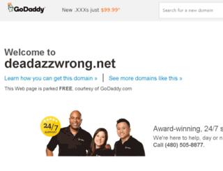 deadazzwrong.net screenshot