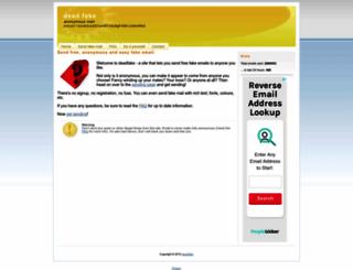 deadfake.com screenshot