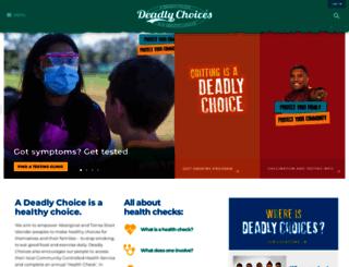 deadlychoices.com.au screenshot