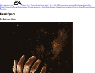 deadspace.ea.com screenshot