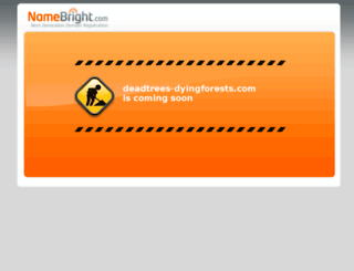 deadtrees-dyingforests.com screenshot