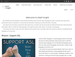 deaf-insight.com screenshot