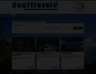 deaftravel.de screenshot