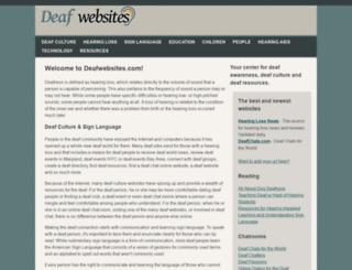 deafwebsites.com screenshot