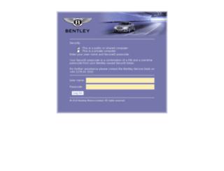 dealer-portal2.bentleymotors.com screenshot