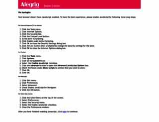 dealer.alegriashoes.com screenshot