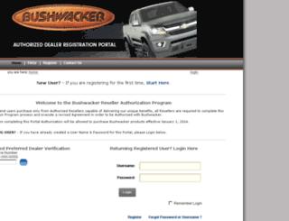 dealer.bushwacker.com screenshot