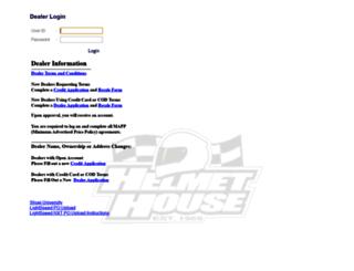 dealer.helmethouse.com screenshot