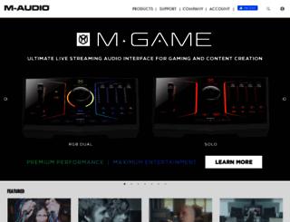dealer.m-audio.com screenshot