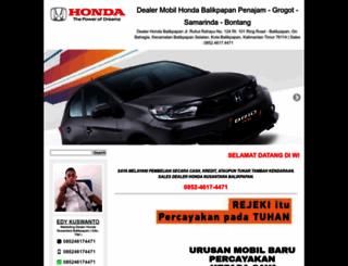 dealerhondabalikpapan.com screenshot