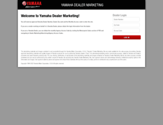 dealermarketing.yamahamotorsports.com screenshot