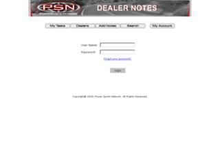 dealernotes.powersportsnetwork.com screenshot