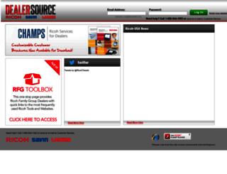 dealers.lanier.com screenshot