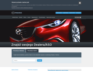dealers.mazda.pl screenshot