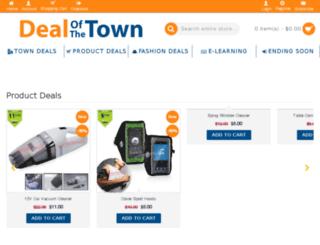dealofthetown.com screenshot