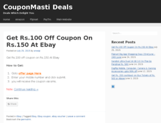 deals.couponmasti.net screenshot