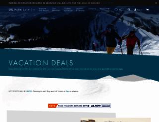 deals.parkcitymountain.com screenshot