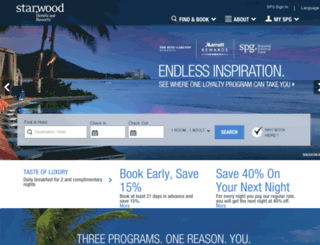 deals.starwoodhotels.com screenshot