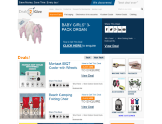 deals2give.com screenshot