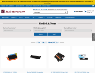 deals4toner.com screenshot