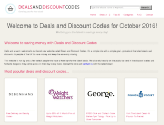dealsanddiscountcodes.co.uk screenshot