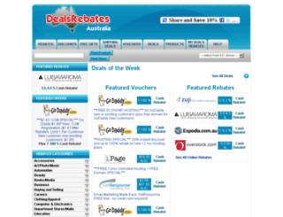 dealsrebates.com.au screenshot