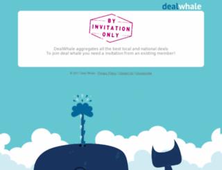 dealwhale.com screenshot