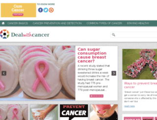 dealwithcancer.com screenshot