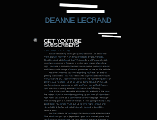 deanne-legrand.tumblr.com screenshot