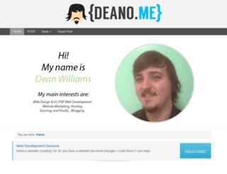 deano.me screenshot