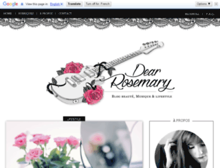 dear-rosmary.blogspot.fr screenshot