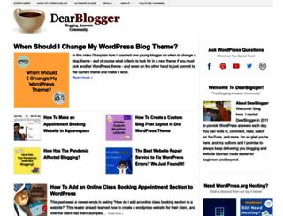 dearblogger.org screenshot