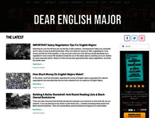dearenglishmajor.com screenshot