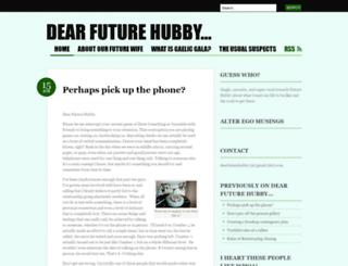 dearfuturehubby.wordpress.com screenshot