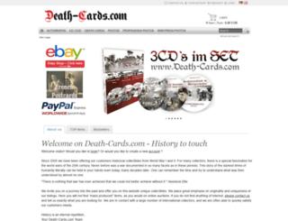 death-cards.com screenshot