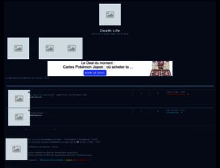 death-life.forumattivo.com screenshot