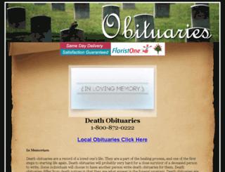 death-obituaries.com screenshot