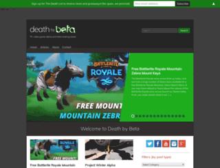 deathbybeta.com screenshot