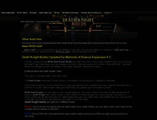 deathknightbuilds.com screenshot