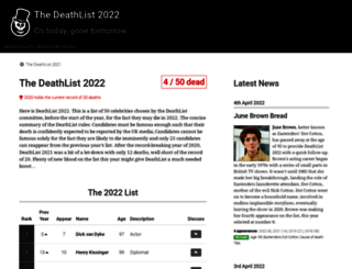 deathlist.net screenshot