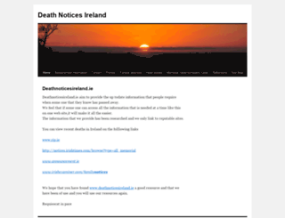 deathnoticesireland.ie screenshot