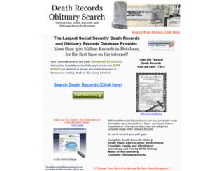 deathrecordsobituarysearch.com screenshot