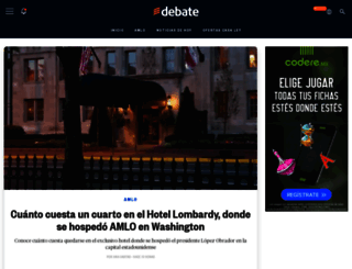 debate.com.mx screenshot