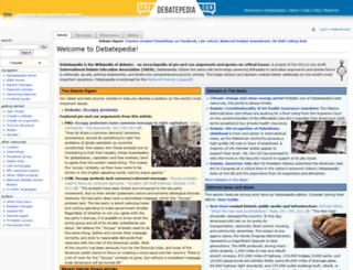 debatepedia.org screenshot