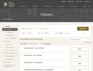 debates.oireachtas.ie screenshot