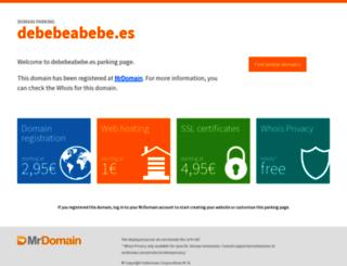 debebeabebe.es screenshot